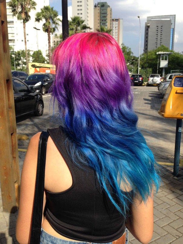 Ombre Rainbow Color Hair Trend In This Spring And Summer